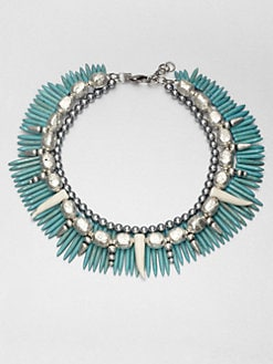 DANNIJO - Beaded Turquoise Collar Necklace