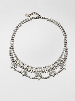 DANNIJO - Viktor Swarovski Crystal Mini Bib Necklace