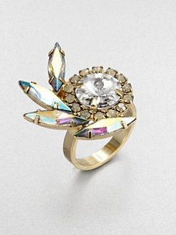 DANNIJO - Swarovski Crystal Feather Ring
