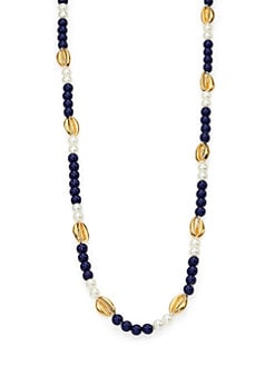 Tory Burch - Mikah Seashell Beaded Station Necklace