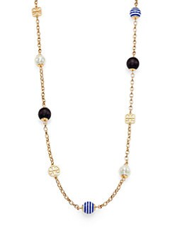 Tory Burch - Saher Simple Mixed Bead Station Necklace