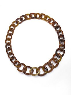 Kara by Kara Ross - Tortoise-Look Link Necklace