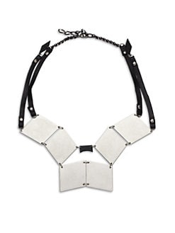 Bliss Lau - Modern Triangle Disc Bib Necklace