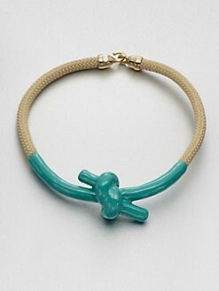 Orly Genger - Madelaine Enamel Dipped Knot Necklace