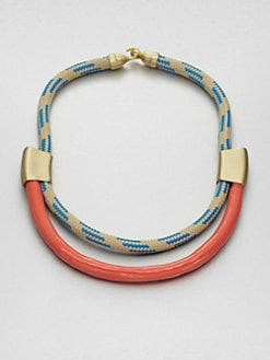 Orly Genger - Roxbury Enamel Dipped Double Row Rope Necklace