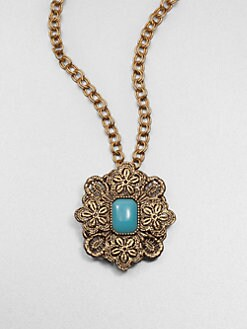 Oscar de la Renta - Lace Medallion Pendant Necklace/Brooch