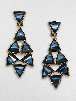 Oscar de la Renta - Triangle Chandelier Earrings