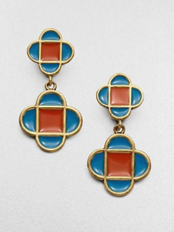 Oscar de la Renta - Two-Tone Geometric Earrings
