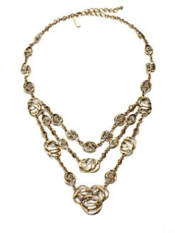 Oscar de la Renta - Multi-Row Spiral Link Necklace