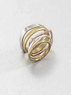 Bing Bang - Tri-Tone Stack Ring Set