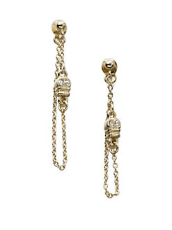 Bing Bang - Skull Chain Earrings