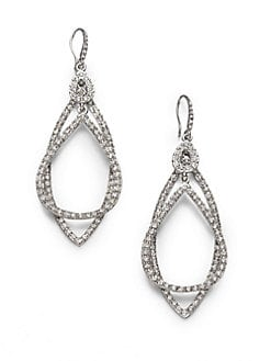 ABS by Allen Schwartz Jewelry - Pav&#233; Double Loop Earrings