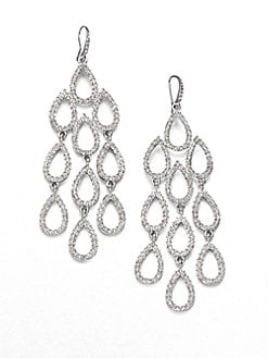 ABS by Allen Schwartz Jewelry - Pav&#233; Chandelier Earrings