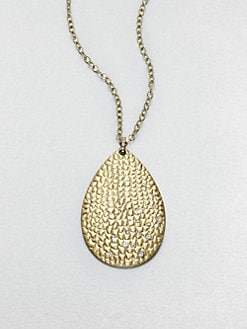 ABS by Allen Schwartz Jewelry - Textured Teardrop Pendant Necklace