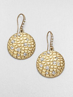 ABS by Allen Schwartz Jewelry - Textured Disc Earrings