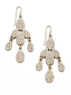 ABS by Allen Schwartz Jewelry - Pavé Chandelier Earrings
