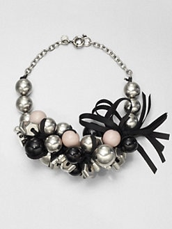 Marc by Marc Jacobs - Bead, Bolt & Ribbon Cluster Necklace