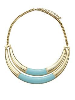 ABS by Allen Schwartz Jewelry - Double Row Enamel Bib Necklace