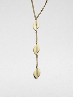 ABS by Allen Schwartz Jewelry - Triple Leaf Pendant Necklace