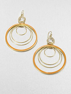 ABS by Allen Schwartz Jewelry - Gypsy Multi-Hoop Drop Earrings