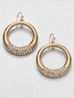 ABS by Allen Schwartz Jewelry - Pav&eacute; Graduated Ring Earrings