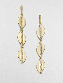 ABS by Allen Schwartz Jewelry - Triple Leaf Drop Earrings