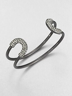 Giles & Brother - Siren Pav&eacute; Skinny Cortina Cuff Bracelet