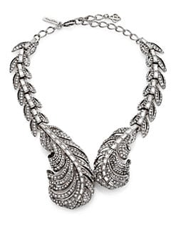 Oscar de la Renta - Pave Crystal Feather Wrap Necklace