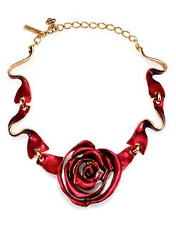Oscar de la Renta - Rose & Ribbon Necklace