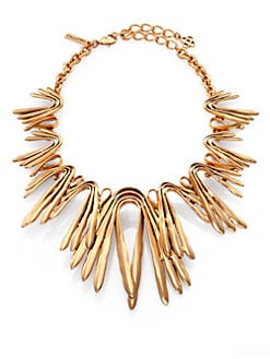 Oscar de la Renta - Chevron Bib Necklace