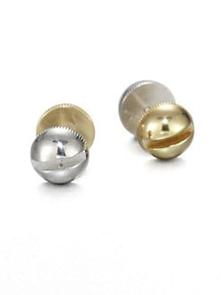 A.L.C. - Two-Tone Screw Stud Earrings