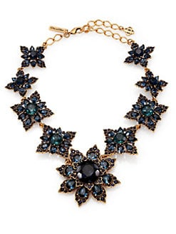 Oscar de la Renta - Jeweled Floral Necklace