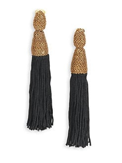 Oscar de la Renta - Silk Tassel Clip-On Earrings