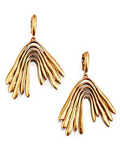 Oscar de la Renta - Chevron Drop Earrings