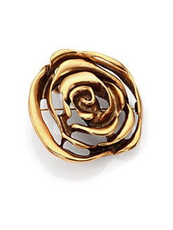 Oscar de la Renta - Rose Convertible Pendant Necklace/Brooch