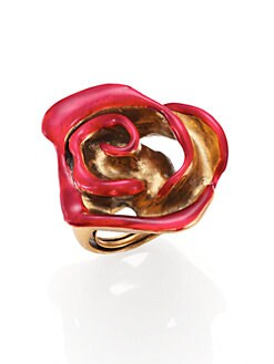 Oscar de la Renta - Painted Rose Cocktail Ring
