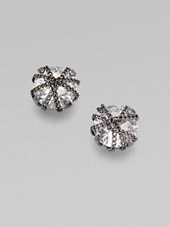 ABS by Allen Schwartz Jewelry - Chain Sparkle Button Earrings