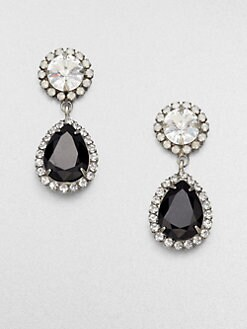 DANNIJO - Faceted Swarovski Crystal Drop Earrings