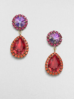 DANNIJO - Tinted Swarovski Crystal Drop Earrings