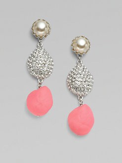 Isaac Mizrahi - Three Drop Earrings/Pink