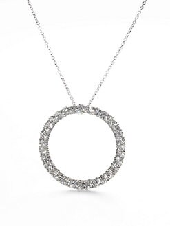Adriana Orsini - Pave Circle Necklace
