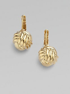 Kate Spade New York - 14K Goldplated Knot Earrings