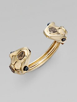 Kara by Kara Ross - 14k Goldplated Dual Snake Cuff
