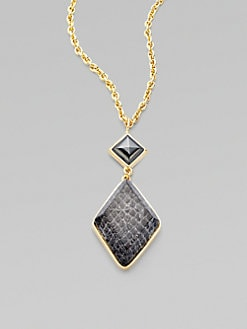 Kara by Kara Ross - 14K Goldplated Resin Covered Snakeskin Pendent