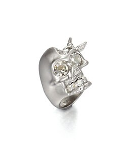 Alexander McQueen - Swarovski Crystal Skull Bird Ring