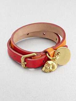 Alexander McQueen - Leather Double Wrap Bracelet