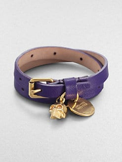 Alexander McQueen - Double Wrap Leather Bracelet
