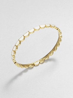 Kate Spade New York - Enamel Thin Scallop Bangle Bracelet