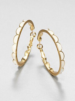 Kate Spade New York - Enamel Scallop Hoop Earrings