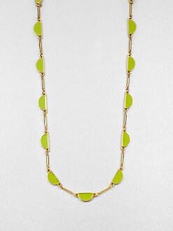 Kate Spade New York - Enamel Scallop Link Necklace/Citrus
